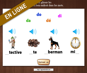 Replacer les syllabes