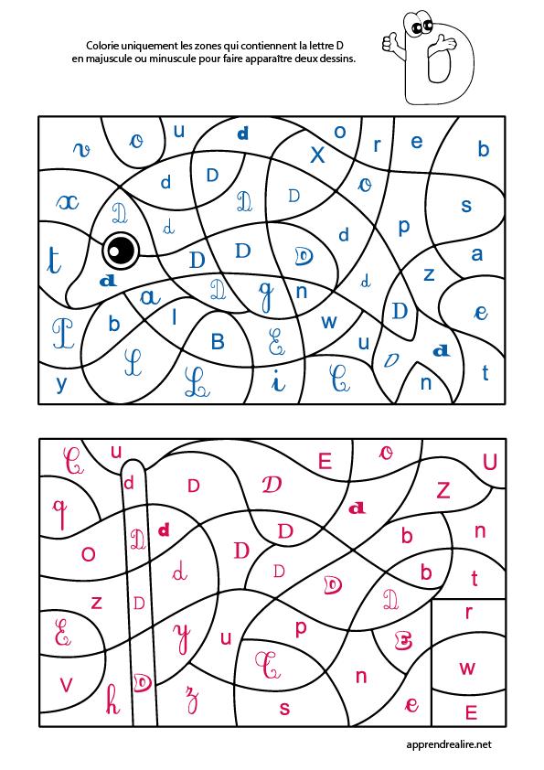 Coloriage Magique Lettre D Apprendre A Lire