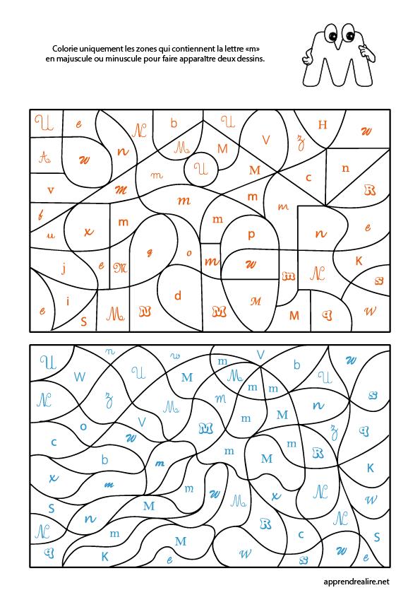 Coloriage Magique Lettre M Apprendre A Lire