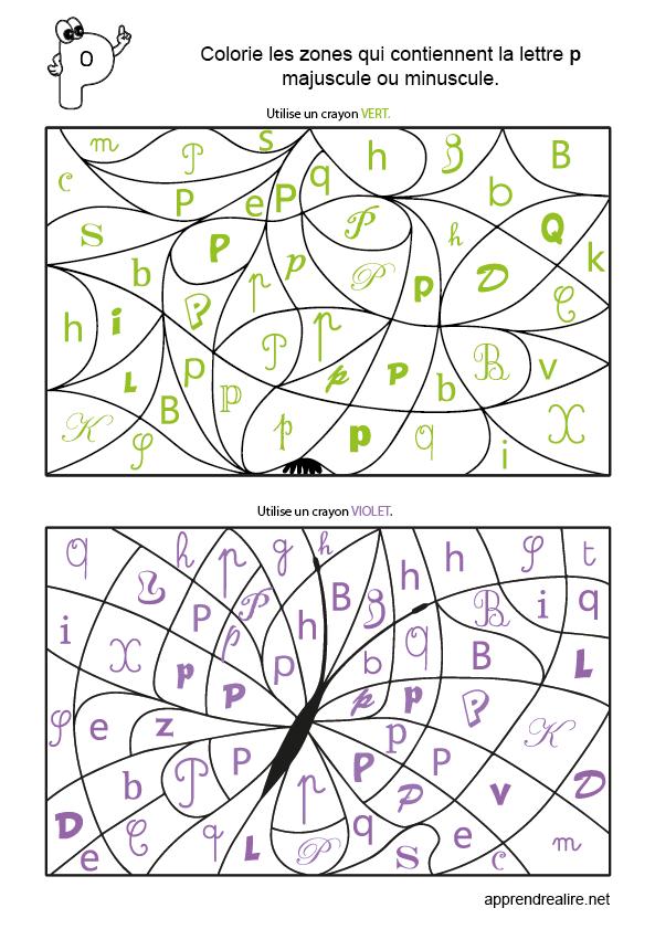 Coloriage Magique Lettre P Apprendre A Lire